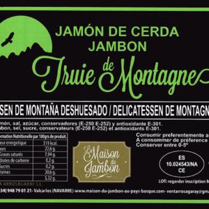 Jambon Truie de montagne